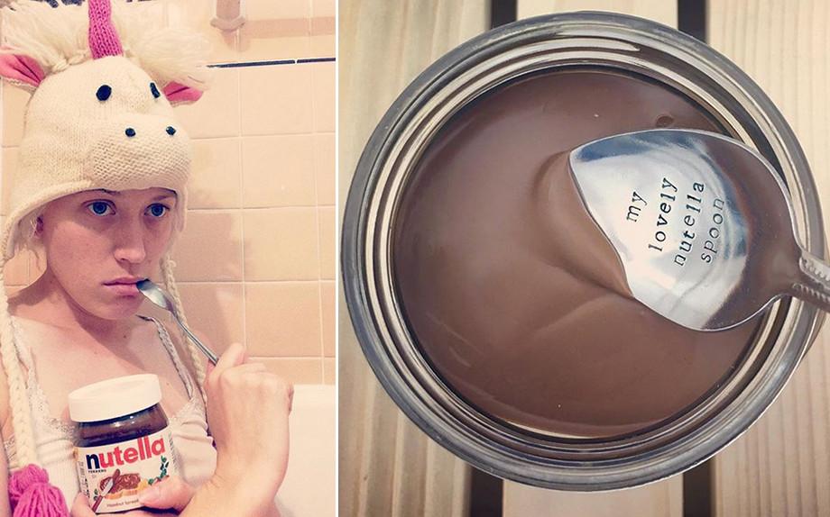 L'attrice australiana Ingrind Haubert, alias The Nutella Girl (@nutelluv)