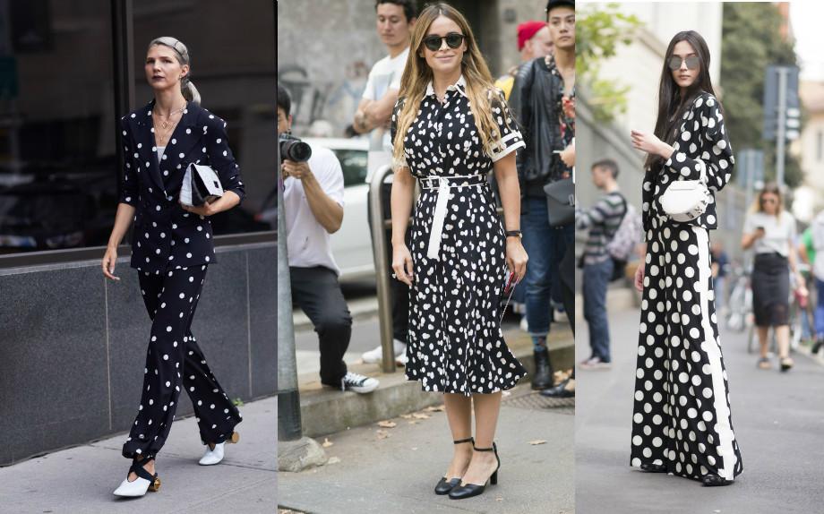 fashion polka dot moda pois street style