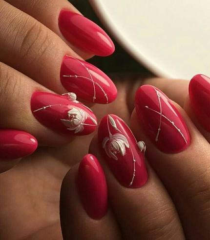 nail art in rosso le unghie più belle e particolari