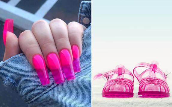 Jelly Nails, le unghie effetto gelatina da accoppiare ai sandali da mare anni '90