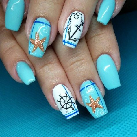 Unghie a tema mare...bellissime! - Glamour.it