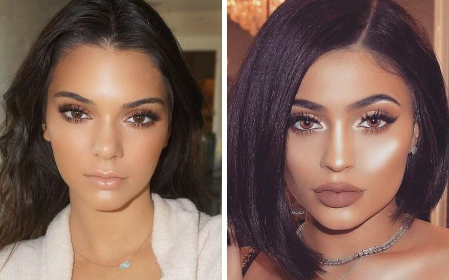 Una delle regine degli illuminanti: Kylie Jenner, a sinistra Ig@makeupbyariel  e a destra via Pinterest