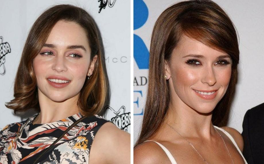 Un effetto naturale su Emilia Clarke a sinistra e su Jennifer Love Hewitt a destra (credits Pinterest)
