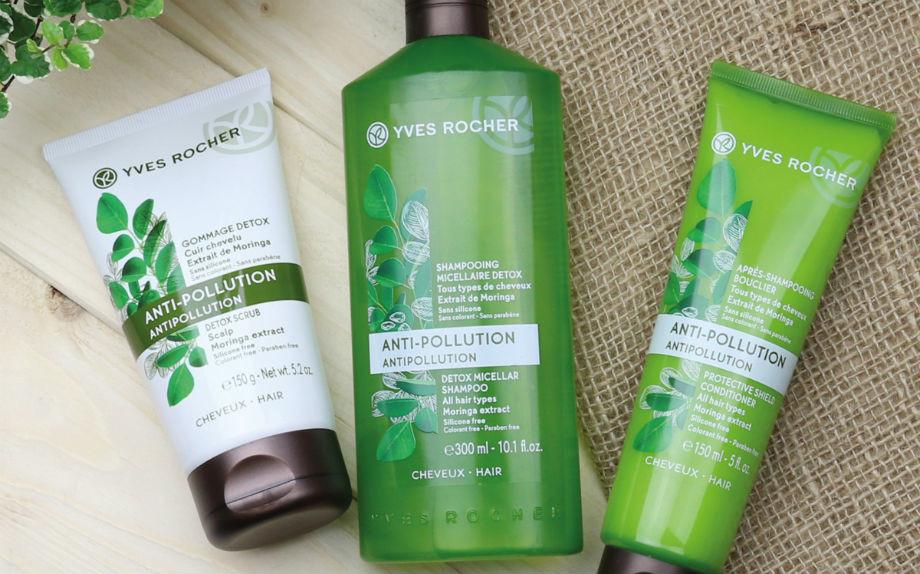 Gommage Detox Cuoio Capelluto, Shampoo Micellare Detox e Balsamo Effetto Scudo di Yves Rocher