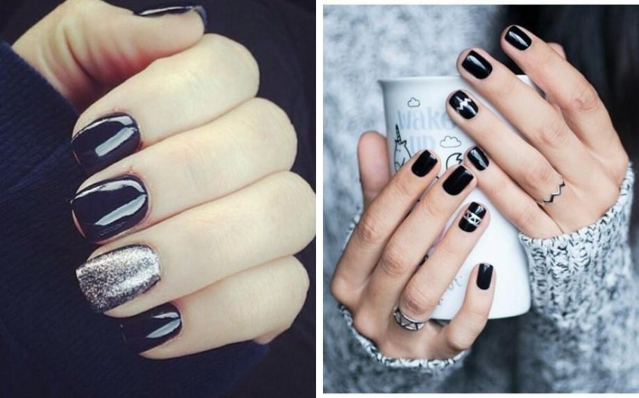 Unghie nere e argento: la tendenza nails più elegante del ...