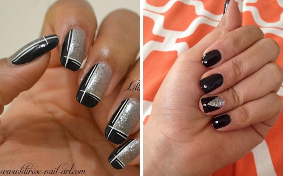 Unghie Nere E Argento La Tendenza Nails Più Elegante Del Momento