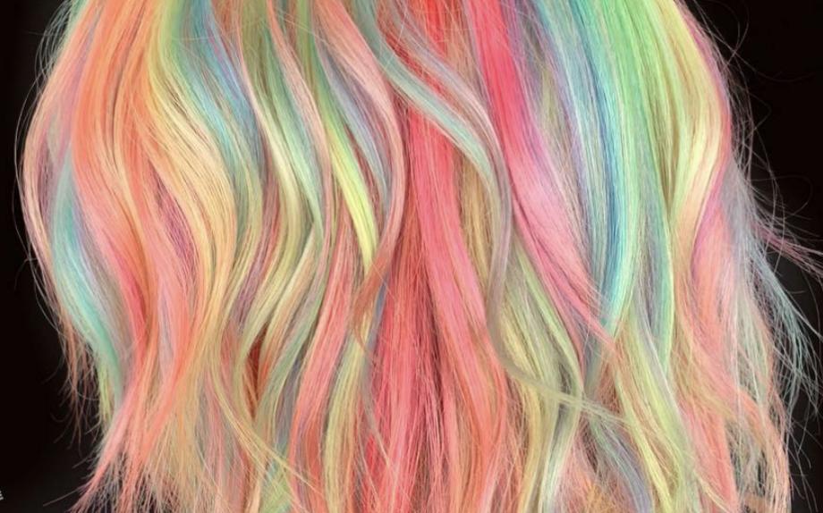 rainbow hair, Giulia Napoli, one more addiction, trend colore, hair trend