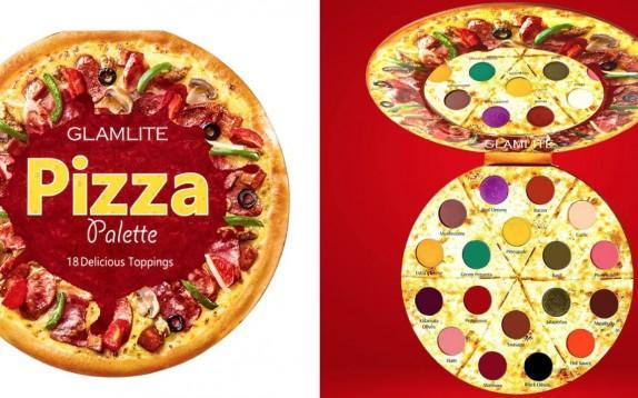 Dedicato a chi ama il make-up e la pizza: la palette occhi a forma di pizza