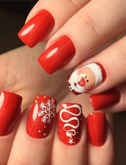 Unghie Con Disegni Di Natale.Unghie Natale 2018 La Nail Art Per La Notte Di Natale