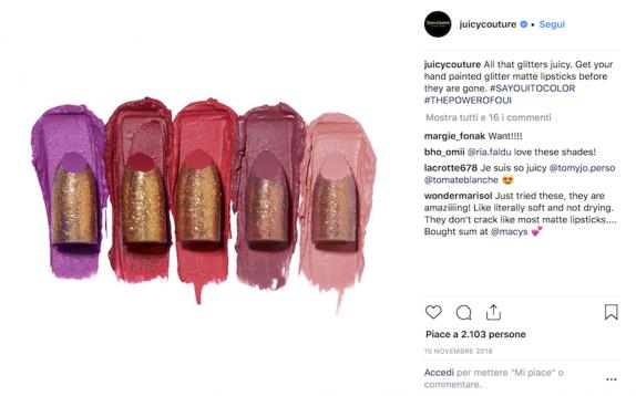 Scelto da Glamour: Il rossetto glitterato della Juicy Couture