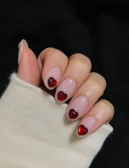 unghie per San Valentino 2019