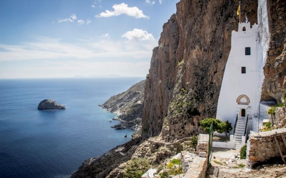 Greece, Cyclades, Amorgos Island: Monastery of Panagia Hozoviotissa