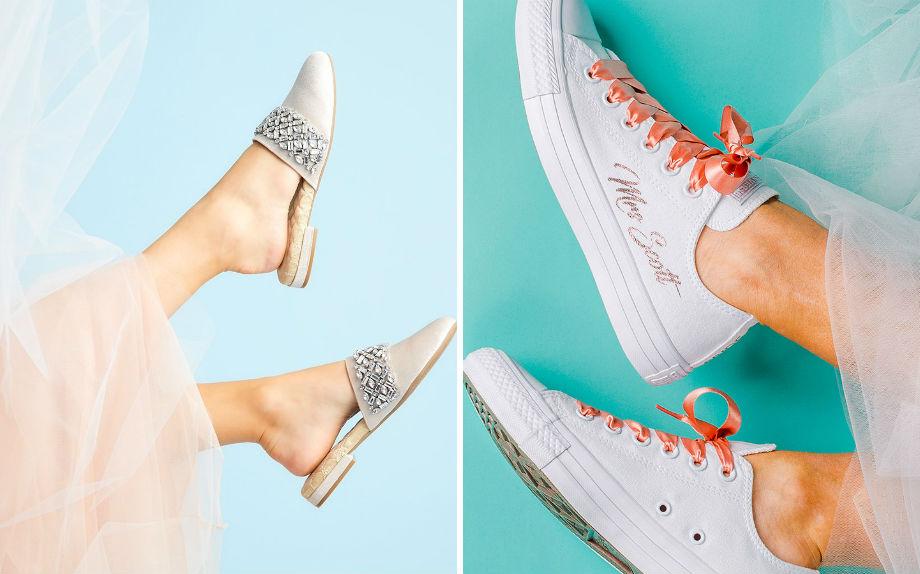 3138c04393d2 Sposa 2019  moda casual e comoda con sneaker e slipper