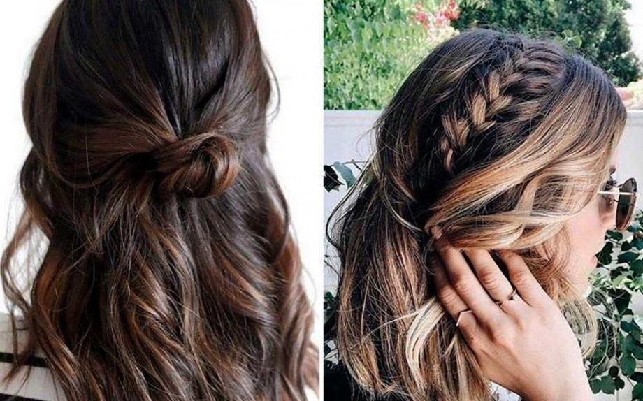 acconciature semplici capelli medi
