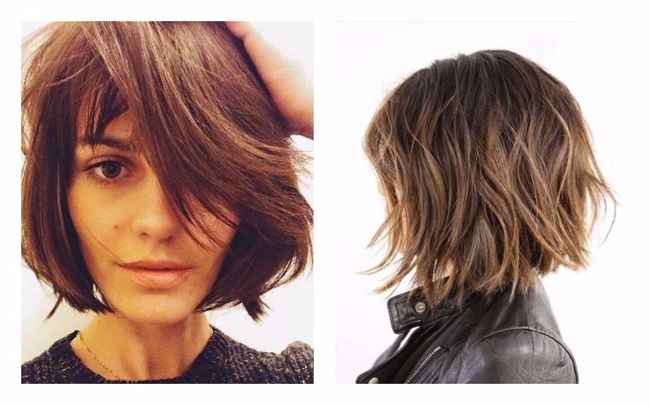 Taglio capelli medio lunghi immagini