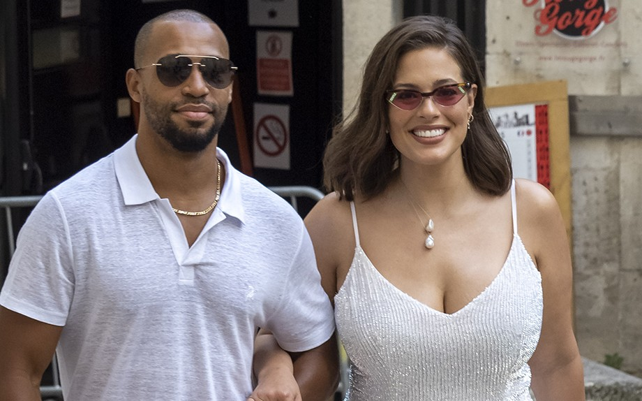 Ashley Graham con il marito Justin Ervin