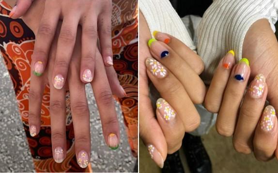 Da copiare la manicure flower power di Rixo