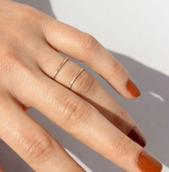 Orange nails - colore unghie autunno invero 2019 2020
