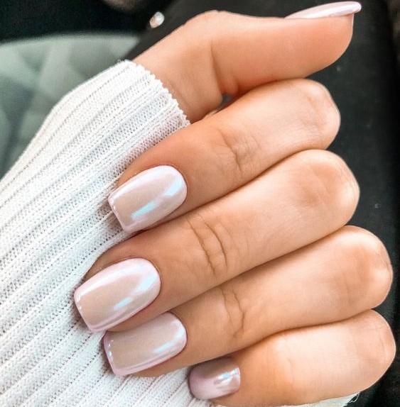 unghie effetto perla
