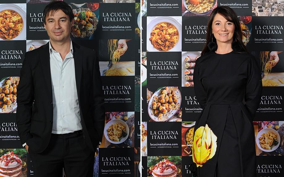 Fedele Usai e Maddalena Fossati, direttore de La Cucina Italiana