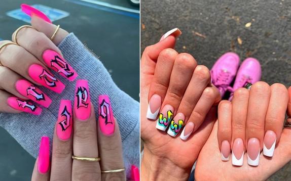 Graffiti nails, la manicure si ispira alla street art