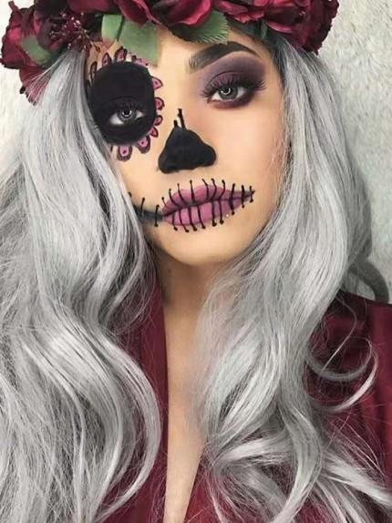 make up halloween facile