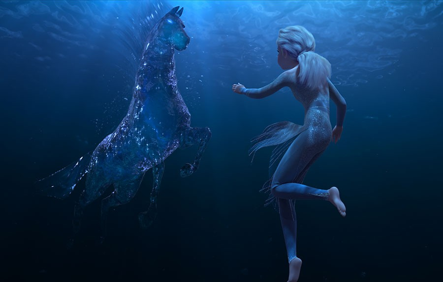 Una scena di Frozen II - Il regno di Arendelle