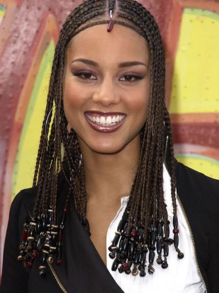 Alicia Keys con le trecce Fulani Braids