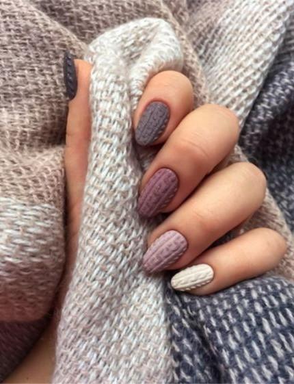 Effetto maglioncino unghie